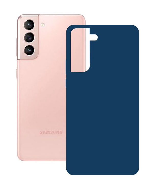Ksix Silicone Cover for Samsung Galaxy S21 Blue
