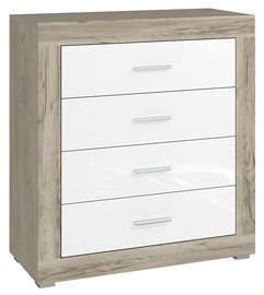 Tuckano Warsaw Chest Of Drawers 830x900x370mm Oak/White