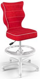 Детский стул Entelo Petit Black HC+F Size 3 VS09, белый/красный, 300 мм x 895 мм