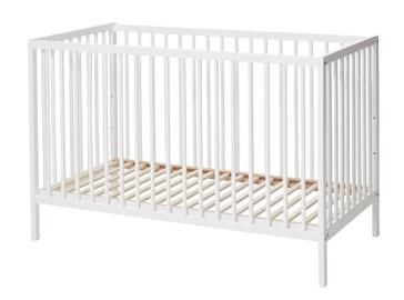 Vaikiška lova BabyDan Comfort White, 120x60 cm