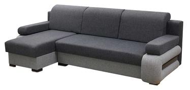 Stūra dīvāns Idzczak Meble Grey Grey/Light Grey, kreisais, 260 x 140 x 72 cm