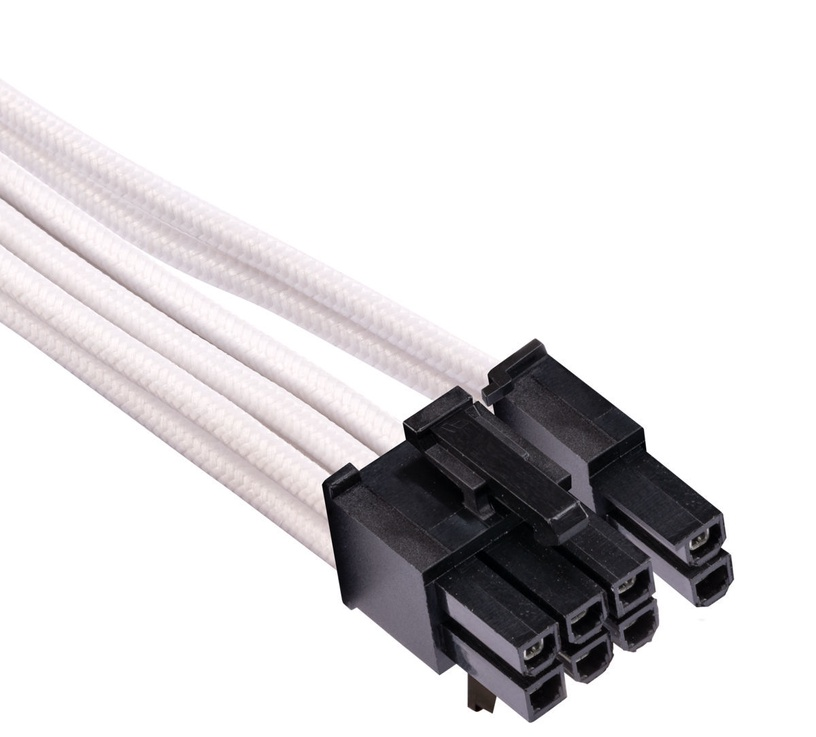 Corsair Premium Individually Sleeved PCIe Cables with Single Connector Type 4 (Gen 4) White