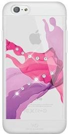 White Diamonds Liquid Case With Swarovski Crystals For Samsung Galaxy S6 Transparent/Pink