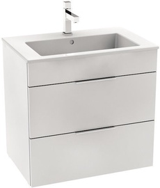 Jika Cube Cabinet with Basin 650x607x430mm White