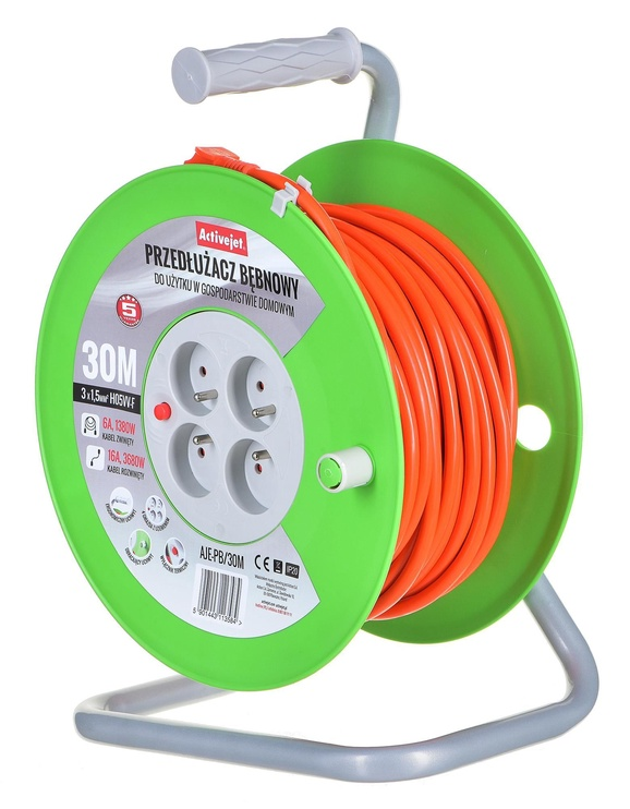 Activejet Reel Extension Cord 30m