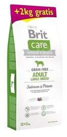 Brit Care Grain Free Adult Large Breed Salmon & Potato 12kg + 2kg