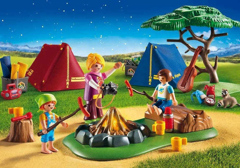 Playmobil Summer Fun Camp Site With LED Fire 6888