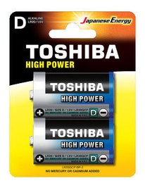 Toshiba High Power LR20 Alkaline Battery 2x