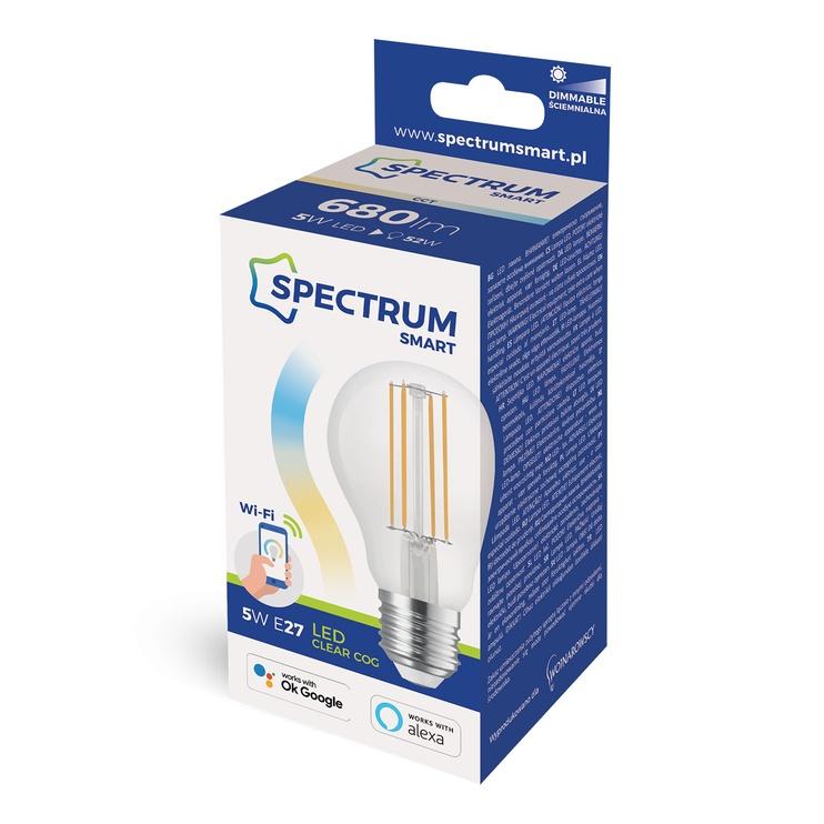 Viedā spuldze Spectrum LED, E27, A60, 5 W, 680 lm, 3000 - 6000 °K, daudzkrāsaina, 1 gab.