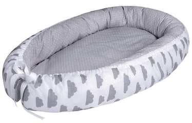 Lulando Multifunctional Baby Nest Grey With Dots/White With Grey Clouds