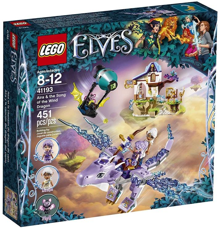 Конструктор LEGO Elves Aira & The Song Of The Wind Dragon 41193 41193, 451 шт.