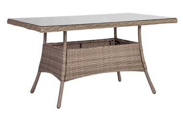 Home4you Toscana Garden Table 140x80x73cm Beige