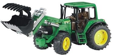 Игрушечный трактор Bruder John Deere 6920 With Frontloader 980261, зеленый