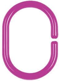 Spirella C-Minor Shower Curtain Rings 12pcs Purple