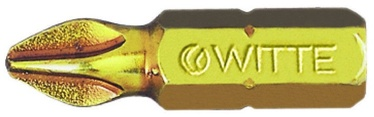 "Witte Extra Hard Screwdriver Bit 1/4""x25mm PH1"