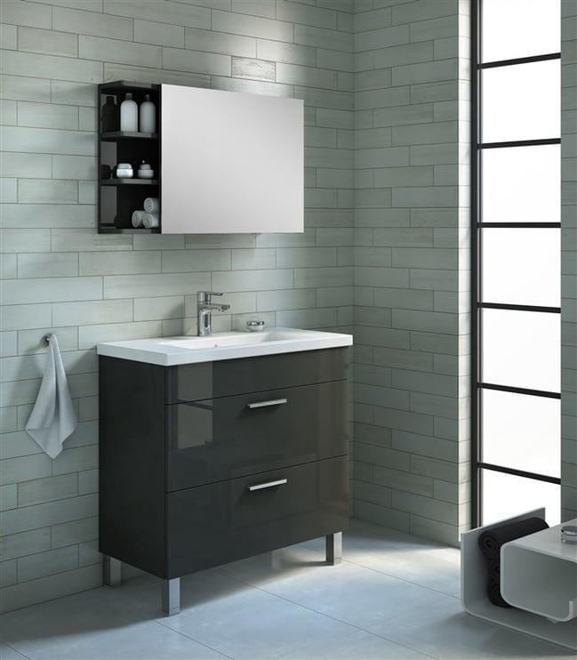 Pastatoma vonios spintelė supraustuvu Domoletti Atile 167071, pilka