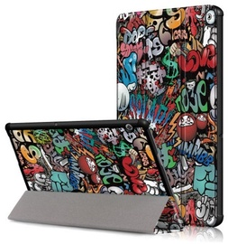"TakeMe Texture Graffiti Book Case For Huawei MediaPad T5 10"" Multicolor"