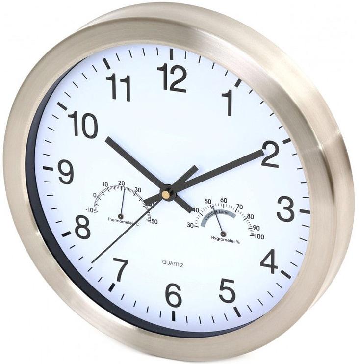 Platinet Winter Wall Clock 42576 White