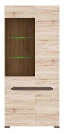 Шкаф-витрина Black Red White Elpasso REG1W3D/20/9 San Remo Oak, 90x41.5x200 см