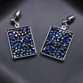 Diamond Sky Earrings With Crystals From Swarowski Crystal Mosaic Bermuda Blue