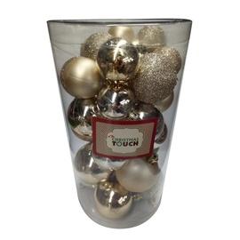 Ziemassvētku eglītes rotaļlieta Christmas Touch N4/LX30BALL Gold, 60 mm, 30 gab.