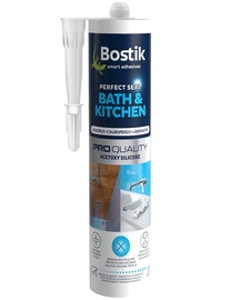 Bostik Bath&Kitchen Perfect Seal Acetoxy Silicone 280ml Clear