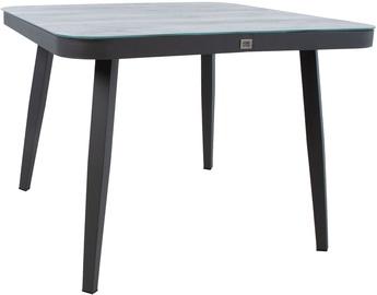 Садовый стол Home4you Marie 13684, серый, 100 x 100 x 74 см