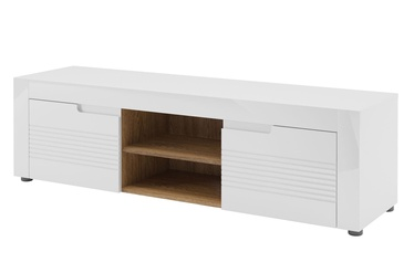 TV staliukas Szynaka Meble Belfort 25 White, 1500x440x410 mm