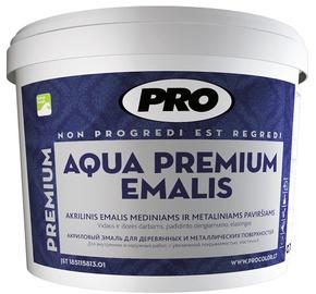Dažai emalis Aqua Premium balti matiniai 0,75l