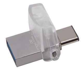 USB atmintinė Kingston DataTraveler microDuo 3C White, USB 3.1, 64 GB