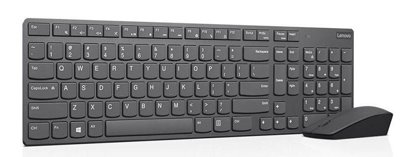 Lenovo Professional Ultraslim Wireless Combo Keyboard Mouse Grey 4X30T25801