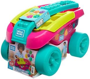 Fisher Price Mega Bloks Shape Sorting Wagon Pink FVJ48