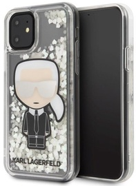 Karl Lagerfeld Iconic Glitter Glow In The Dark Back Case For Apple iPhone 11 Transparent