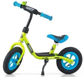 Milly Mally Dusty 10'' Balance Bike Green Blue