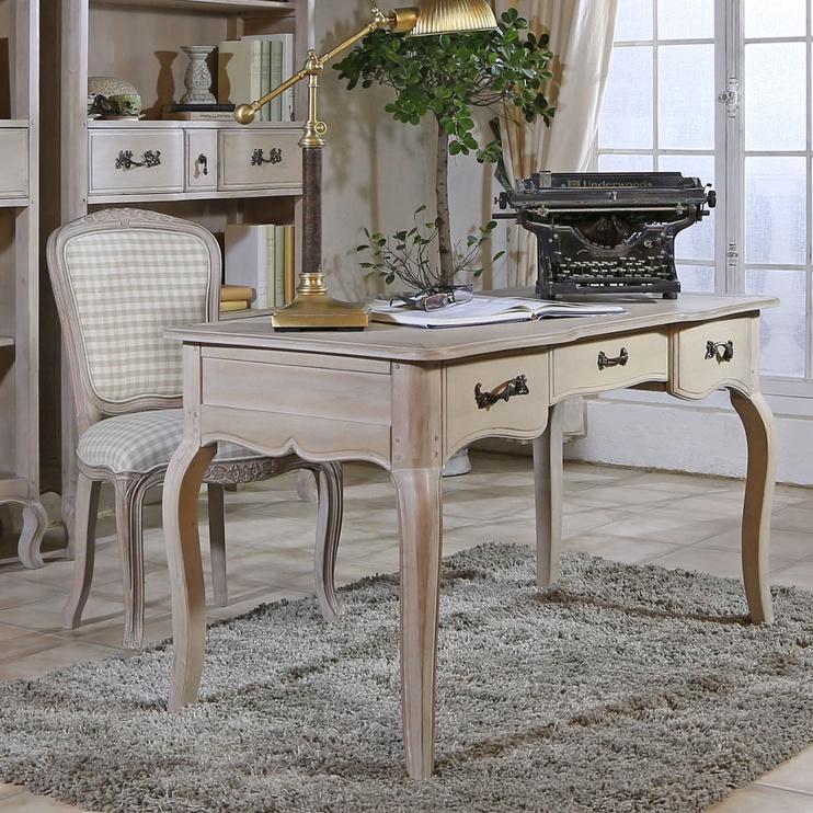 Home4you Elizabeth 2 Writing Desk Antique White/Brown