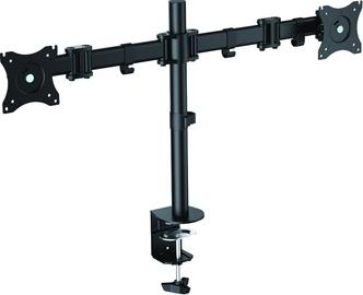 """Televizoriaus laikiklis LogiLink BP0022 Dual Monitor Desk Mount 13-27"""" Black"""