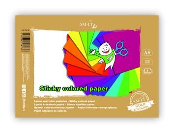 Цветная бумага SMLT, A5, 70 g/m², 8 шт.