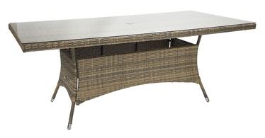 Home4you Wicker Table 200x100x74cm Cappuccino