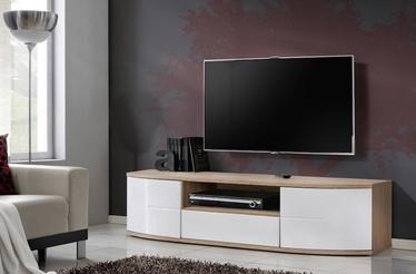 TV-laud ASM RTV Ontario I San Remo Oak/White Gloss, 1500x480x430 mm