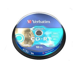 Kompaktiniai diskai CD-R Verbatim, 700 MB, 10 vnt.