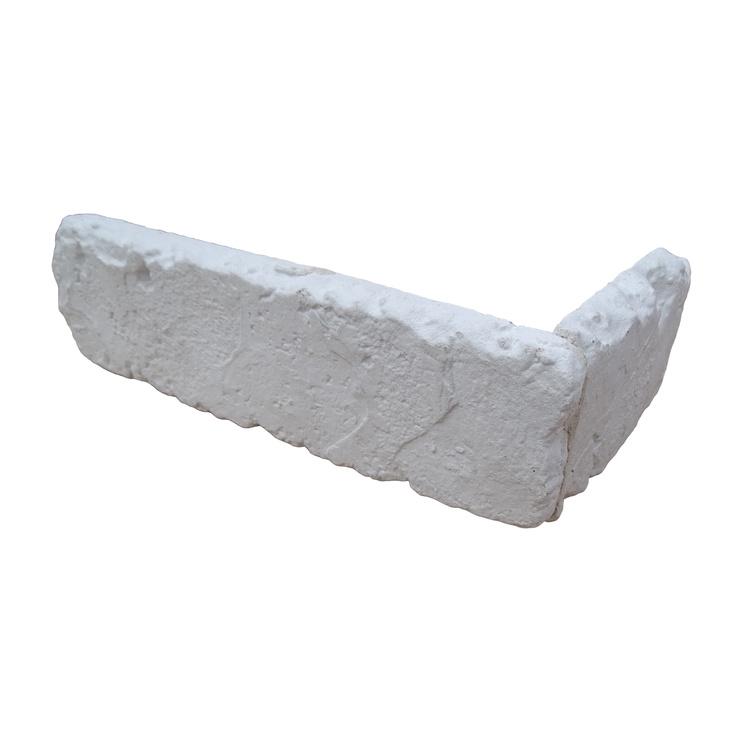 Stone Master Retr Brick Corner Tiles 400x260mm White