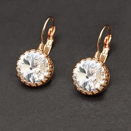 Diamond Sky Earrings Vintage V With Swarovski Crystals
