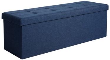 Пуф Songmics Ottoman, синий, 38 см x 110 см x 38 см
