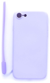 Evelatus Soft Touch Back Case With Strap For Apple iPhone 7/8 Purple