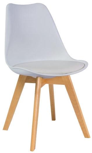 Стул для столовой Signal Meble Kris Beech Beech White, 1 шт.