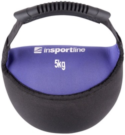 inSPORTline Neoprene Dumbbell Bell-Bag Black/Purple 5kg