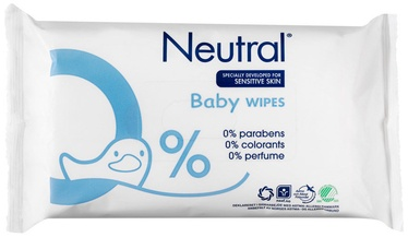 Mitrās salvetes Neutral Baby Wet Wipes 63pcs