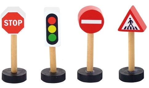 Viga Train Set Accessory Traffic Signs 50817