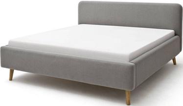 Кровать Meise Möbel Mattis Light Gray, 200x180 см