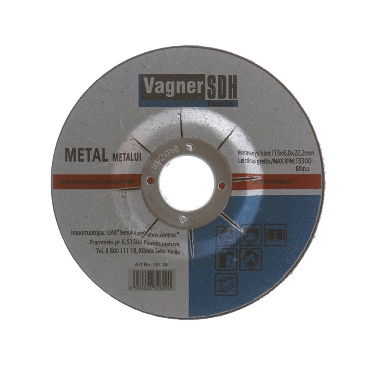 Šlifavimo diskas Vagner SDH, 115x6x22,23 mm